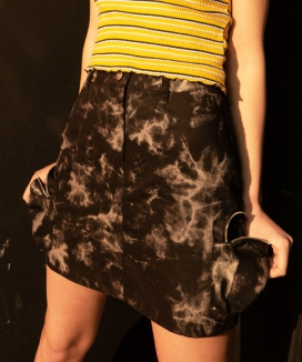 [B ABLE TWO] Tie Dye Cargo Pocket Skirt