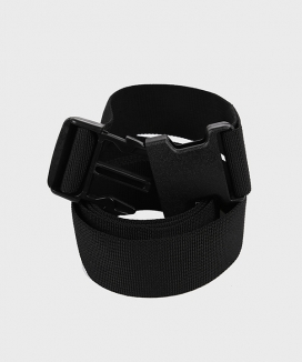 [DRUG WITHOUT SIDE EFFECT] SAC1 Black Plastic Buckle Belt