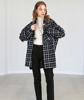 [S SY] WINDOW PANE PLAID SHIRTS