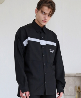 [S SY] REFLECTION LINE OVERSIZE SHIRTS