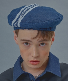 [Oct.3] Logo Three-Line Denim Beret