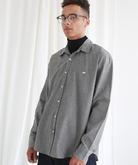 [NEW:KIT] SAVE EDITION DENIM STRIPE SHIRT