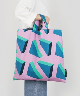 [dropdropdrop] TRIANGLE LEGO, BIG TOTE BAG