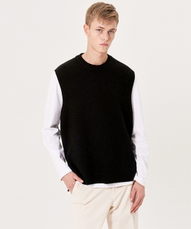 [INSILENCE] COTTON KNIT VEST