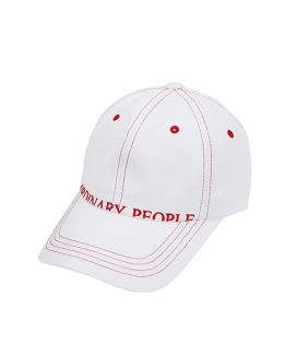 [ORDINARY PEOPLE] stitch point white ball cap