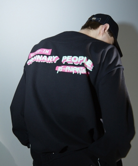 [ORDINARY PEOPLE] vintage logo sweat shirt
