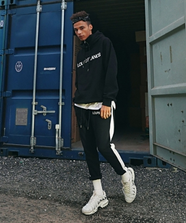 [LOUPS BLANCS] SIDE LINE ZIPPER TRACK PANTS
