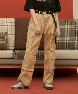 [UNALLOYED] COTTON WIDE CARGO PANTS