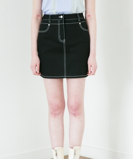 [RA VIDE] DENIM STITCH SKIRT