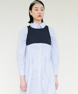 [RA VIDE] STITCH SHIRT DRESS