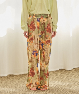 [TMO BY 13MONTH] FLORAL PAINT BANDING PANTS