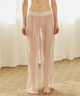 [TMO BY 13MONTH] SEE-THROUGH BANDING PANTS