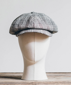 [WILD BRICKS] BPG CHECK NEWSBOY CAP