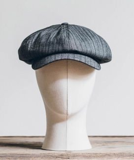 [WILD BRICKS] HBT STRIPE NEWSBOY CAP