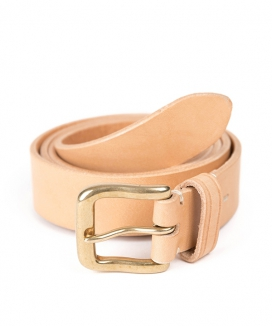 [WILD BRICKS] BS BRASS LEATHER BELT
