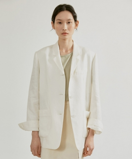 [38comeoncommon] 19SR DAILY LINEN JACKET (white)