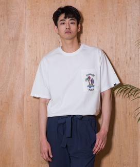 [PRAIRIE] ROMANTIC HOLIDAY EMBROIDERY POCKET 1/2 T-SHIRTS