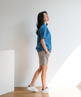 [PRAIRIE] GLEN CHECK OUT-POCKET SHORTS