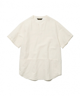 [Uniform Bridge] 19ss v neck pocket short shirts