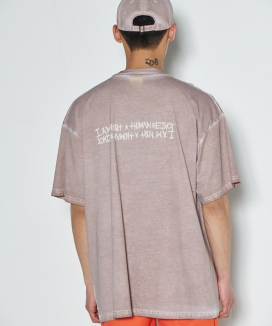 [iam not a humanbeing] Washed Tee (HAND MADE)