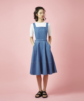 [Between A and B] SUSPENDER A LINE DRESS