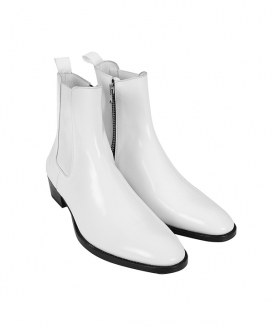 [ORDINARY PEOPLE] [19ss collection]white ankle zipper boots