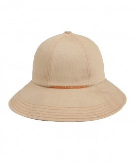 [ORDINARY PEOPLE] orange stitch point beige bucket hat