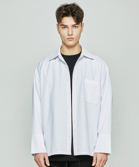 [AT THE MOMENT] Retro Over-fit Shirt