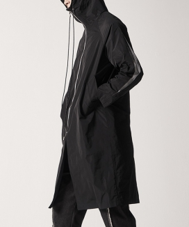 [MANODDIOS] High Neck Luz Sleeve Staff Coat