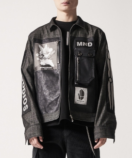 [MANODDIOS] Quartz-man Cross Teck Jacket