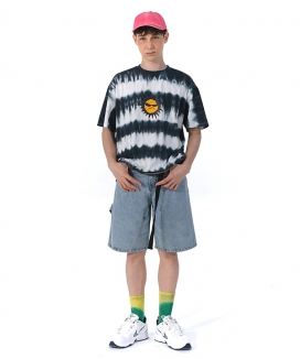 [youthbath] 35 Stripe Tie-dye SUN-smile graphic short sleeve T