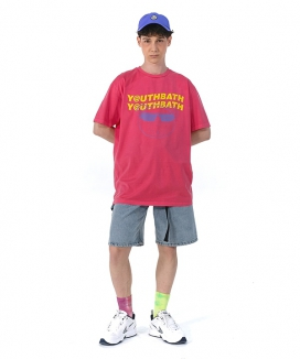 [youthbath] Pigment dying Bear graphic short sleeve T
