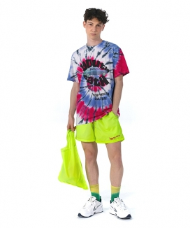 [youthbath] 38 Tie-dye graphic short sleeve T_wave