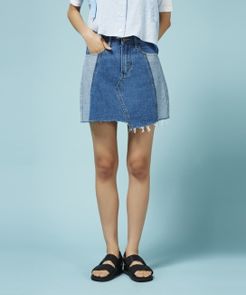 [Between A and B] INSIDE-OUT DENIM MINI SKIRT