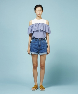 [Between A and B] INSIDE-OUT DENIM SHORT PANTS