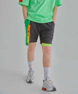 [ANOMIE COMPLEX] COLOR BLOCKING SHORT PANTS