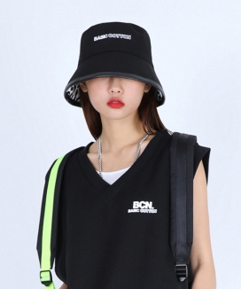 [BASIC COTTON] basic two tone bucket hat