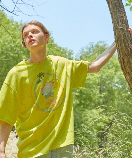 [ORDINARY PEOPLE] [DISNEYxORDINARYPEOPLE] summer vibe angry duck lime t-shirt *(*