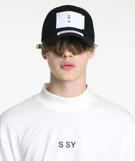 [S SY] DOUBLE WHITE LABEL CAP