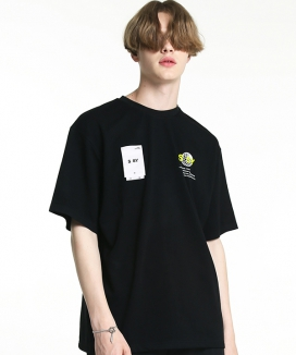 [S SY] SILKY COATED WORLD WIDE T.SHIRT