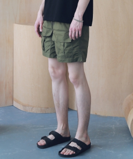 [MASSNOUN] FRONT TWO POCKET SHORT PANTS MSNSP005