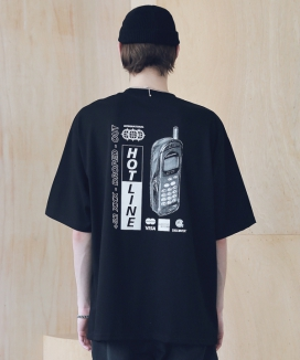[MASSNOUN] HOT-LINE OVERSIZED T-SHIRTS MSNTS008