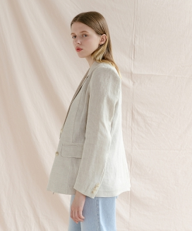 [ADDSENSE] FRENCH LINEN DOUBLE JACKET