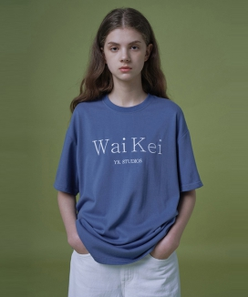 [WaiKei] Steady_Logo Embroidered Shortsleeve T-shirts