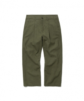 [Uniform Bridge] 19ss one tuck linen pant
