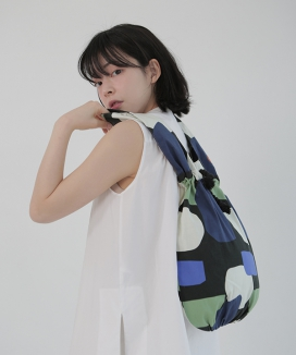 [textile area] BUCKET PICNIC BAG_AMAZON PATTERN