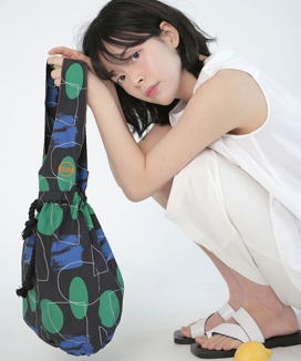 [textile area] BUCKET PICNIC BAG_BACK! PATTERN