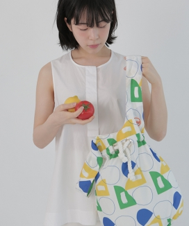 [textile area] BUCKET PICNIC BAG_GO! PATTERN