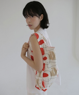 [textile area] リバーシブルピクニックバッグ