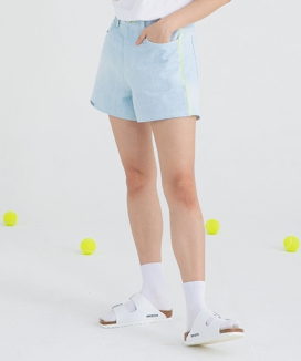 [motivestreet] WMNS ICE DENIM SHORTS